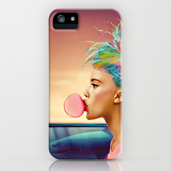 Shark and gum iPhone Case