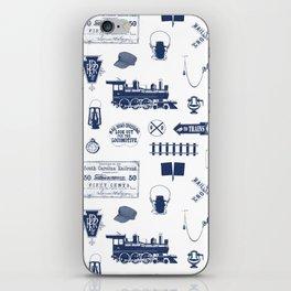 Railroad Symbols // Navy Blue iPhone Skin