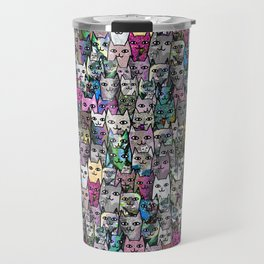 Gemstone Cats CYMK Travel Mug