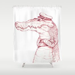 Sailor Gator  Shower Curtain