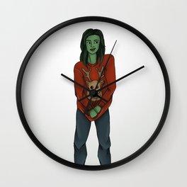 Xmassy She-Hulk Wall Clock