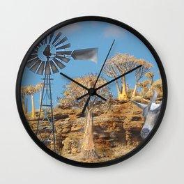 Wind Punk Golden Quivers Wall Clock