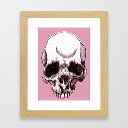 Skull in pink  Framed Art Print