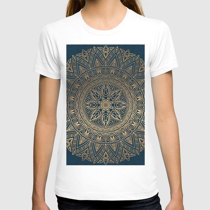 Gold Mandala 16 T-shirt