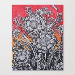 Floral Sunset Canvas Print
