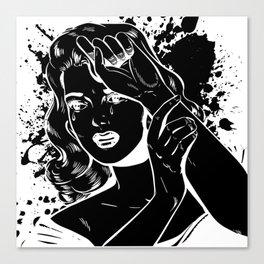 Crying Comic Book Damsel in Distress Canvas Print