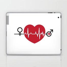 Love hearts EKG Laptop & iPad Skin
