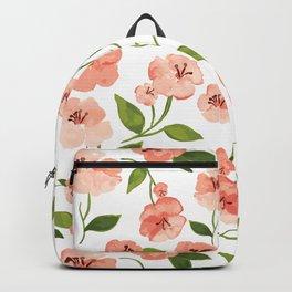 Peach flowers Backpack