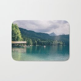 Alpsee Summer Mountain Lake Bath Mat
