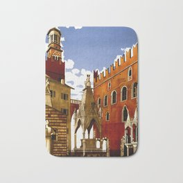 Vintage Verona Italy Travel Bath Mat