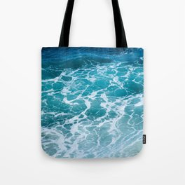 Ocean Waves in Hawaii Tote Bag