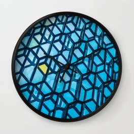 Contemporary Icelandic Glass Building Wall Clock