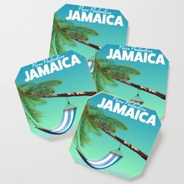 'Pure Paradise' Jamaica travel poster Coaster