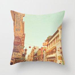 Chinatown, San Francisco, ca Throw Pillow