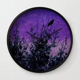 Raven Sentinel Wall Clock