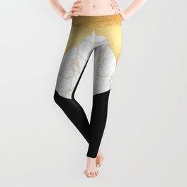 GOLDEN MARBLE TRIANGLE Leggings