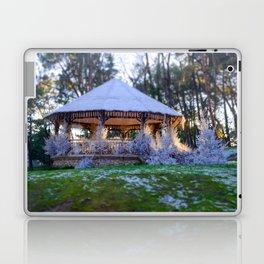 Kiosk in winter Laptop & iPad Skin