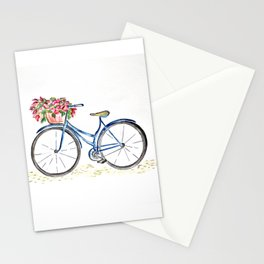 Spring bicycle Stationery Cards