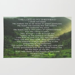 Psalms 23 Lords Prayer Rug