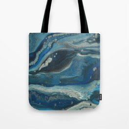 Water Dragon, Abstract Fluid Acrylic Painting Tote Bag