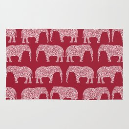 Alabama bama crimson tide elephant state college university pattern footabll Rug