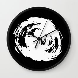 Whorl Black and White Wall Clock