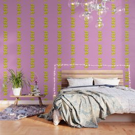 Lemon Slices Pink Wallpaper