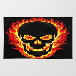 Flame Skull Rug