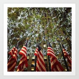 Christmas Lights of Freedom Art Print