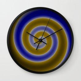 Blue Swirls Wall Clock