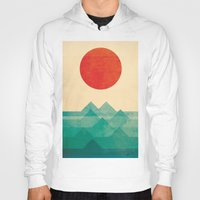 budi Hoodies featuring The ocean, the sea, the wave by Picomodi