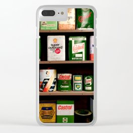 Old Cans Clear iPhone Case