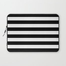 Stripe Black & White Horizontal Laptop Sleeve