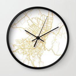 BOGOTA COLOMBIA CITY STREET MAP ART Wall Clock