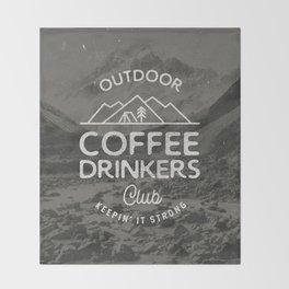 Outdoor Coffee Drinkers Club Throw Blanket