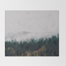 Forest Fog Throw Blanket