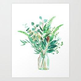 greenery in the jar Art Print