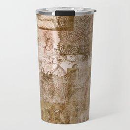 Vintage & Shabby Chic - Victorian ladies pattern Travel Mug