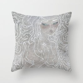 Young Medusa Throw Pillow