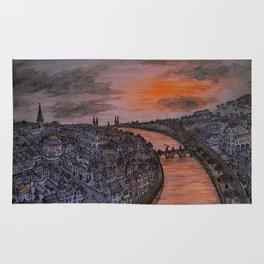 Sunset Cityscape Rug