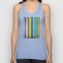 Colorful Stripes With Texture Unisex Tank Top