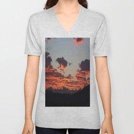 Aegean Sunset Unisex V-Neck