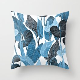 Lush Lily - chambray Throw Pillow
