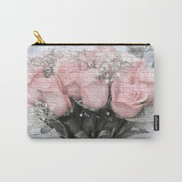 Love Silently - Flower Art Carry-All Pouch