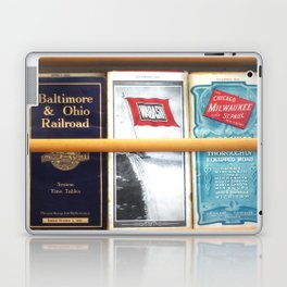 Original Early 1900s American Train Time Tables (RARE) Laptop & iPad Skin