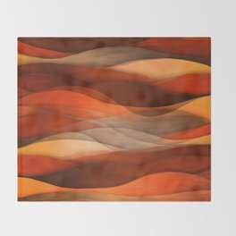 """""""Sea of sand and caramel waves"""" Throw Blanket"""