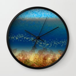 Abstract Seascape 01 w Wall Clock
