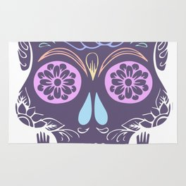 Day of the Dead Pastel Skull (Dia de los Muertos) Rug