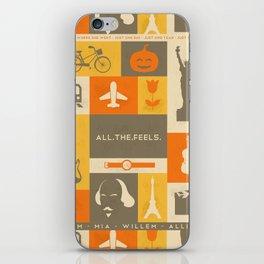 All the feels iPhone Skin