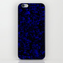 coming together darkly. blue iPhone Skin